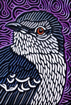 LISA  BRAWN   WOODCUT      mockingbird