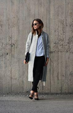 Ganni wrap coat - fashionweek 2.0