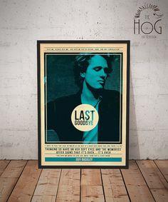 Jeff Buckley Quote Retro Poster Music Legends par HogArtDesign