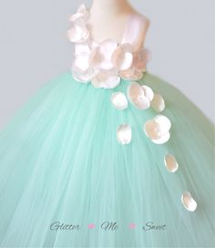 Mint Flower Girl Dress - Tutu Dress Flower Girl - Flower Girl Tulle Dress - Mint Tulle Dress -Tulle Dresses For Girls -Toddler Pageant Dress by GlitterMeSweet on Etsy https://www.etsy.com/listing/227502637/mint-flower-girl-dress-tutu-dress-flower