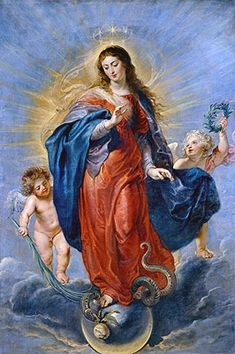Immaculate Conception - Peter Paul Rubens  Prado Museum, Madrid, Spain, Great Masters Gallery  48.18  - Canvas Art Print - Giclee