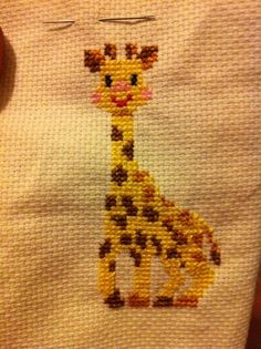 Sophie la girafe - point de croix