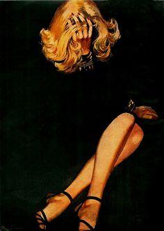 mujer sobre fondo negro