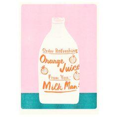 Orange Juice Print | The Printed Peanut