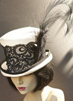 Black and White KENTUCKY DERBY Hat: