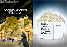 Today's Toons 11/17/20 - Today's Toons - The Right Reasons Political Cartoons, Funny Cartoons, Eric Bolling, Theatre Of The Absurd, Dumb People, Peaceful Protest, Culture War, Conservative Politics, Friday Humor