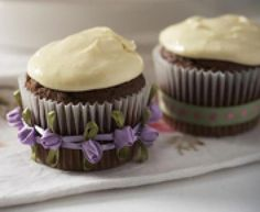 Baileys Irish Cream Cup Cakes Recipe, a delicious and easy to make a real 'grown-up' treat and lovely for St Patrick's Day.