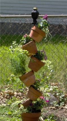 Just a quirky little tower of pots