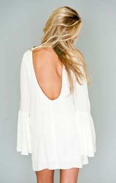 BACHELORETTE DRESS ~ WHITE CHIFFON ~ SHOW ME YOUR MUMU