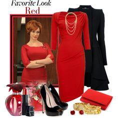 Mad Men, Favorite Look in Red by misiku sweet on polyvore