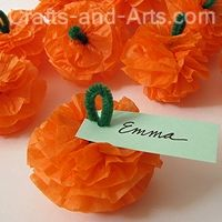 cute, easy craft for fall centers - tissue paper and a pipe cleaner