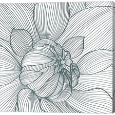 Metaverse Art Myrrhis Odorata I Gallery Wrap Canvas Wall Art Vector Flowers, Plant Drawing, Ink Drawing, Flower Drawing, Zentangle Patterns, Canvas Art, Abstract, Stretched Canvas Prints, Graphic Art