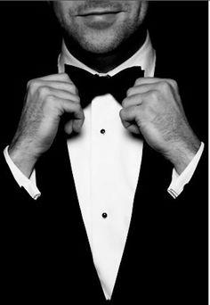 Black Tie attire for the men in your wedding. A dapper celebration of a black and white theme.