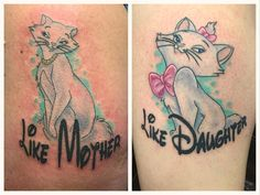 "Jon Dump on Instagram: ""Like mother like daughter I mean... I'd say it's #1 mother daughter tattoo of the year lol #Disneytatts #disneyink #tattooeddisney @disneytatts #tattooeddisney"""