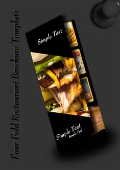 Free Four Fold Restaurant Brochure PSD Template Brochure Folds, Brochure Template, Design Desk, Brochures, Psd Templates, Flyers, Food And Drink, Restaurant, Graphic Design
