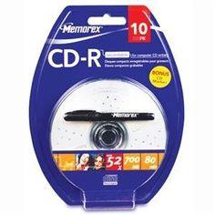 CD-R 80 10 Pk Blister w/Pen (04524) - by Memorex. $27.80. CD-R 80 10 Pk Blister w/Pen