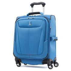 Travelpro Maxlite 5 Lightweight Carry-on Expandable Softside Luggage Azure Blue, Lowes Home Depot, Luggage Reviews, Carry On Size, Best Luggage, Spinner Suitcase, Carry On Suitcase, Packing Light, Cool Things To Buy, Life Hacks