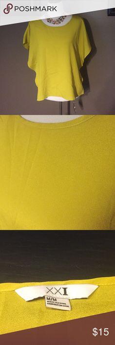 Green tunic style shirt Green tunic style medium shirt. XXI Tops