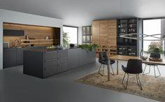 LEICHT Neuheiten 2017 #LEICHT #kuechen,  #mattlack, #echtholz #bondi Instagram, Kitchen Island, Design, Bar, Breakfast, Wood, House Styles, Table, Moscow