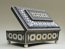 Antique Anglo Indian Sadeli Mosaic and Ivory fitted Sewing Box.  Dating from 19th century.
