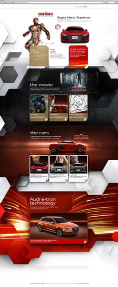 Iron Man 3 - Audi R8 e-tron by Christian Mies, via Behance