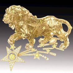 """Chanel's """"Constellation du Lion"""" brooch from the """"Sous le Signe du Lion"""" high jewellery collection."""