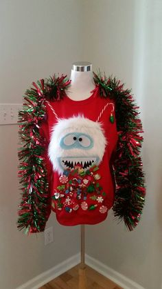 Ugly Christmas Sweaters Diy Ugly Christmas Sweater Abominable Snowman by UglySweatersForU - Christmas Party Decorations, Christmas Costumes, Xmas Party, Diy Christmas Outfits, Tacky Christmas Outfit, Christmas Headbands, Christmas Party Food, Christmas Clothes, Office Christmas