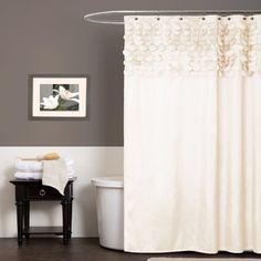 Amazon.com - Lush Decor Lillian Shower Curtain, 72-Inch by 72-Inch, Beige -