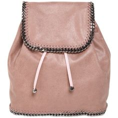 bb29069e1b STELLA MCCARTNEY Falabella Shaggy Faux Deer Backpack ($725) ❤ liked on  Polyvore featuring bags