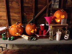 Pumpkin carving pumpkin party