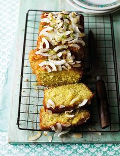 Lime and coconut drizzle cake, by Edd Kimber. If you are looking for an alternative to chocolate this Easter this is a light and fresh baking choice.