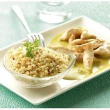Recette Quinoa et Poulet Sauce Curry Tipiak