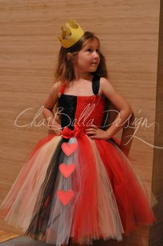 "Alice in Wonderland  ""Queen of Hearts"" Inspired Costume. $40.00, via Etsy."