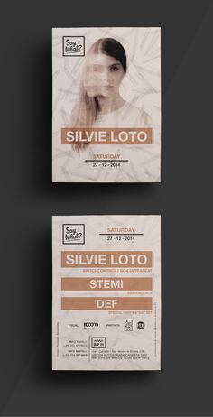 "Flyer design for ""Say What?"" w/ Silvie Loto @B P M Caserta (Italy) | Design by Fiorenzo Savastano"