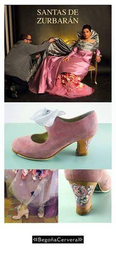 Eva Yerbabuena de Santa Casilda de Zurbarán. Con zapatos de Begoña Cervera.