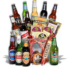 Silent Auction basket idea - variety of beers and snacks. I LOVE THIS IDEA to bad it wont go over well at our auction. :) @Judith Zissman Zissman de Munck Durbin Reid