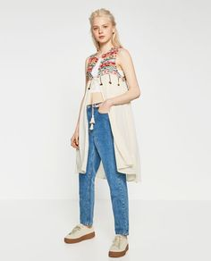 EMBROIDERED WAISTCOAT WITH POMPOMS-OUTERWEAR-SALE-WOMAN | ZARA United States