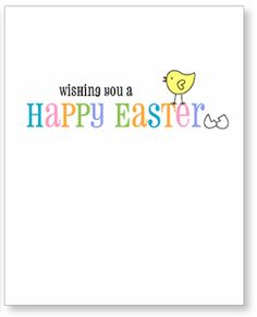 cute Easter card printable