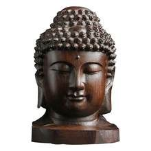 Chinese Half Shakyamuni Amitabha Buddha Half Demon Head Statue Wood Carved Home Decoration Accessories - Lucky Mouse Chinese Gifts Wooden Statues, Wooden Figurines, Mahatma Buddha, Buddha Figures, Amitabha Buddha, Head Statue, Free Meditation, Buddha Head, Wood Sculpture