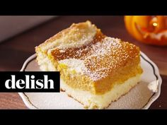 Pumpkin Pie Cake - Magic Pumpkin Cake
