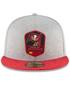 2ce5395e3cf New Era Boys  Tampa Bay Buccaneers Official Sideline Road 59FIFTY Fitted Cap  - Gray 6 1 2