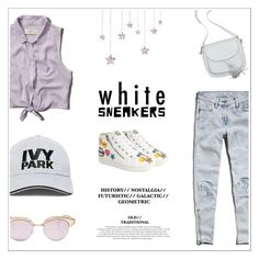 """""""park"""" by cattrina-k ❤ liked on Polyvore featuring Steve Madden, Abercrombie & Fitch, Ivy Park, Le Specs and whitesneakers"""