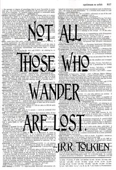 J.R.R. Tolkien Quote • Upcycled Dictionary Print