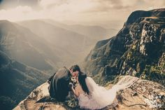 Imagine the most organic wedding photo captured in the mountains, this intimate moment is everything we dream of!