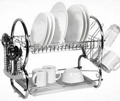 Odkvapkávač na riad poschodový Cedar Roof, Cedar Shingles, Plates For Sale, Cutlery Holder, Dish Drainers, Dish Racks, Drip Tray, Shower Heads, Chrome Plating