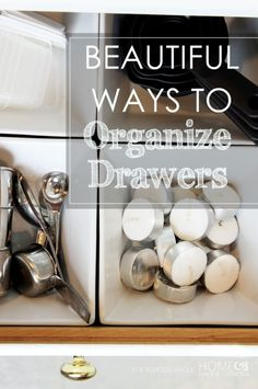Great tips to organize drawers beautifully! @Remodelaholic.com #spon #organize #drawers
