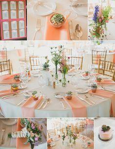 peach, pink + succulent wedding details \\ Lauren Fair Photography » Blog @Kate Bamberg