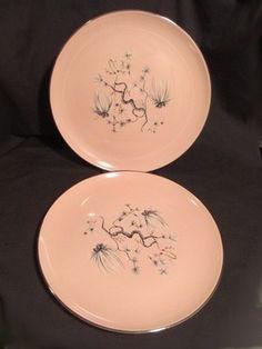 Taylor Smith Pink Dwarf Pine Dinner Plates