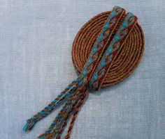 Rams Horn Tablet Woven Trim Kivrim Tablet Weaving by inkleing, $65.00