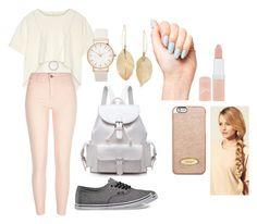 """""""Going for a walk"""" by fantasticbabe ❤ liked on Polyvore featuring Oak, River Island, Vans, Michael Kors, Lulu*s, Rimmel, Hershesons and MICHAEL Michael Kors"""